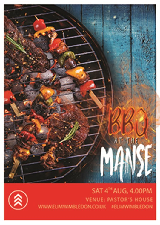 Flyer BBQ at the Manse 250X350